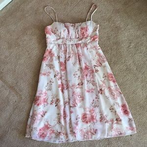 Floral light pink Dress